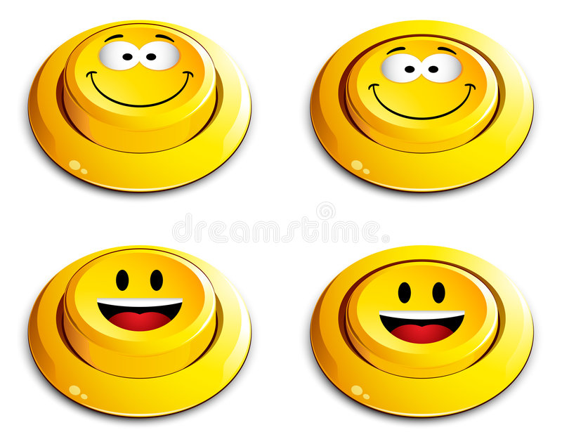 button emoticon push απεικόνιση αποθεμάτων