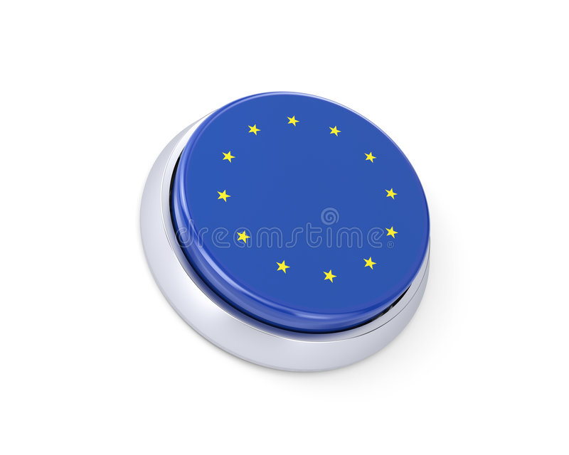 Button (with Euro flag) royalty free stock images