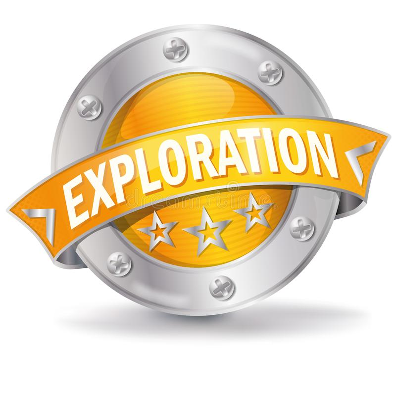 Button with exploration royalty free illustration