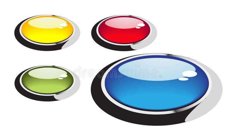 button exponeringsglas runt royaltyfri illustrationer