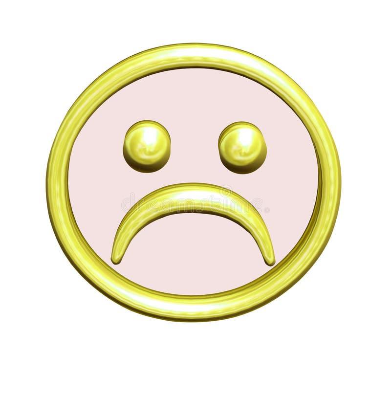 button framsidan frowny royaltyfri illustrationer