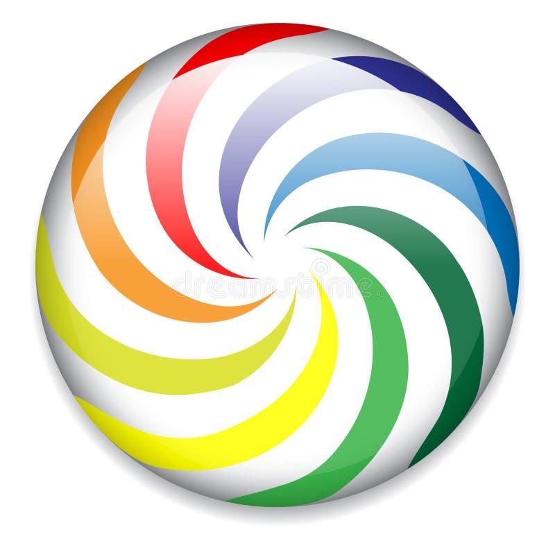 button godisen färgrik stock illustrationer