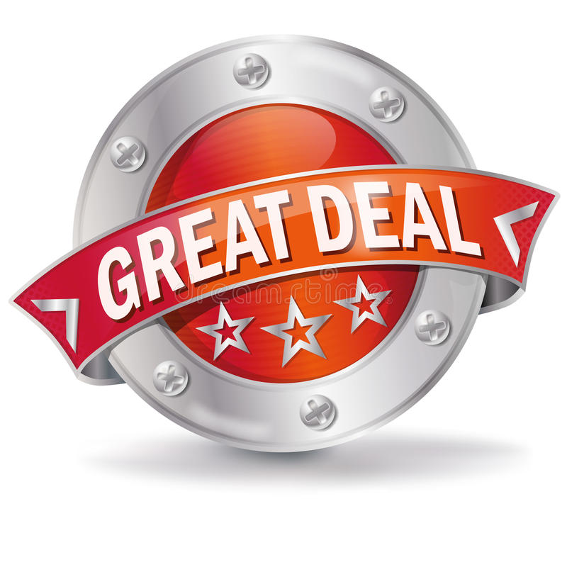Button great deal royalty free illustration