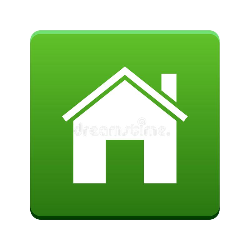 Home icon button stock illustration