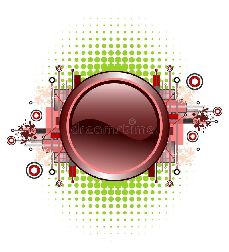 button grunge hög - techvektorn royaltyfri illustrationer