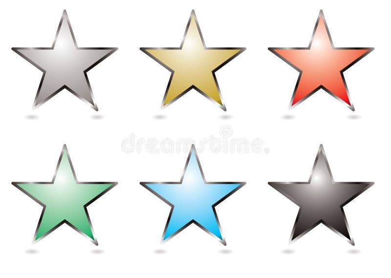 button gwiazda ilustracji