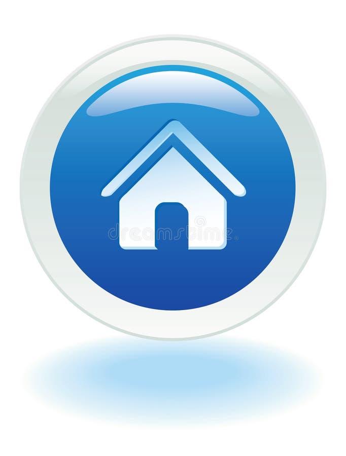 button home web διανυσματική απεικόνιση