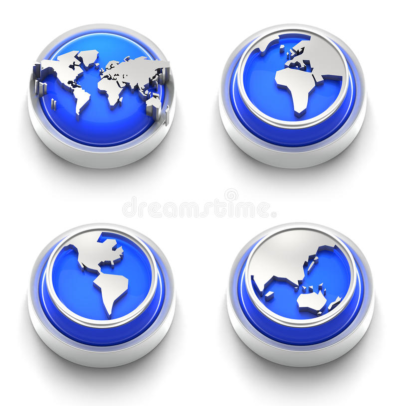Download Button Icon: Blue World stock illustration. Image of white - 17212549