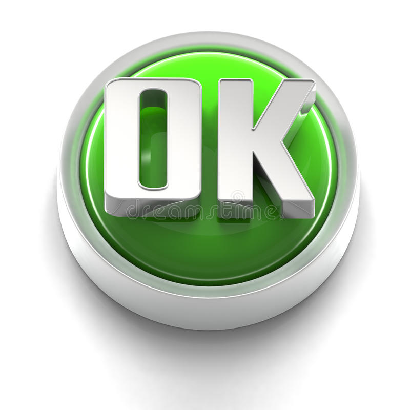 Download Button Icon: OK stock illustration. Image of graphics - 17212361