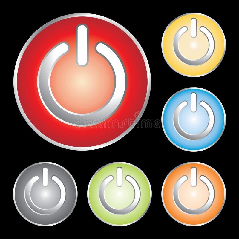 button ikon moc royalty ilustracja