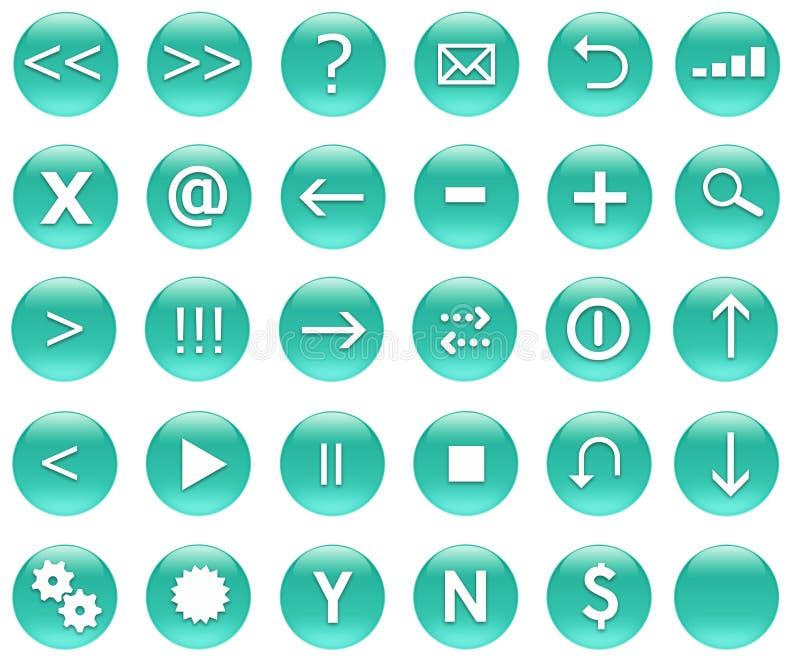 button ikony zestaw nawigacji royalty ilustracja