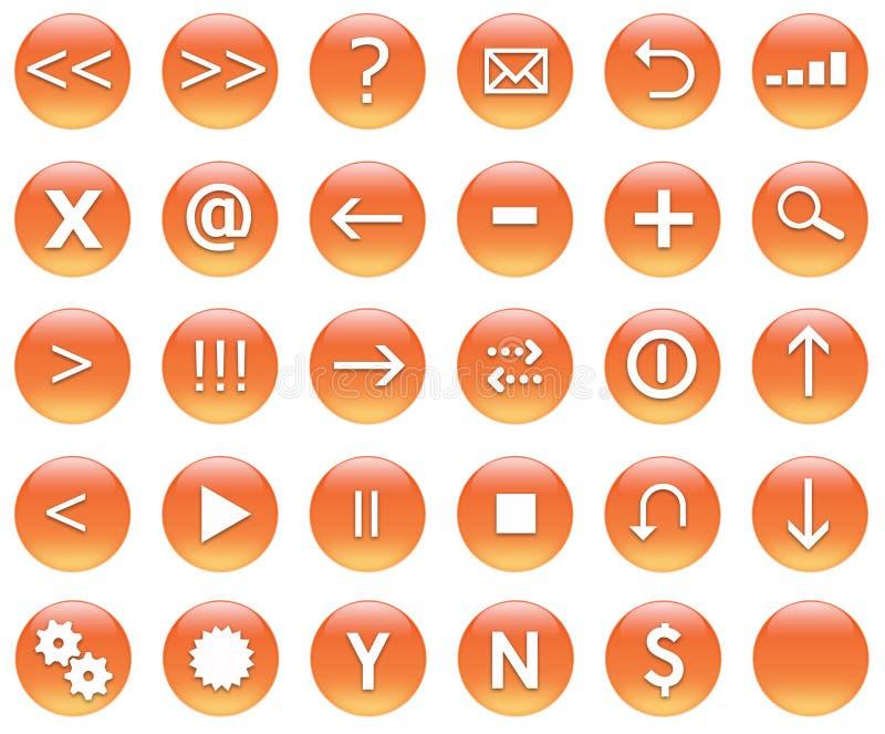 button ikony zestaw nawigacji ilustracja wektor