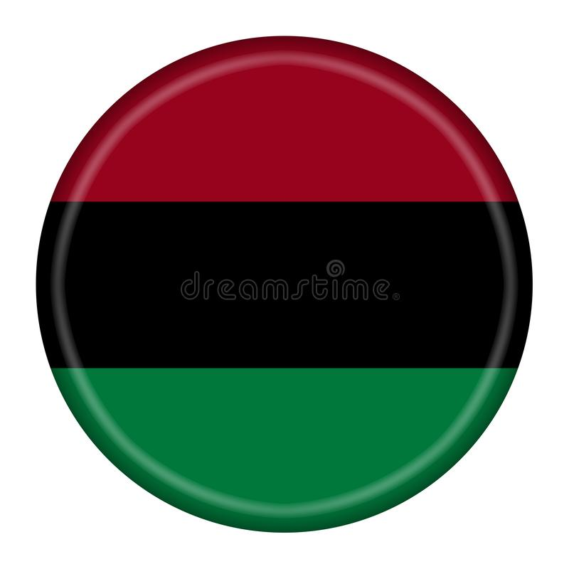 Button illustration African American flag isolated on a white background with clipping path royalty free illustration