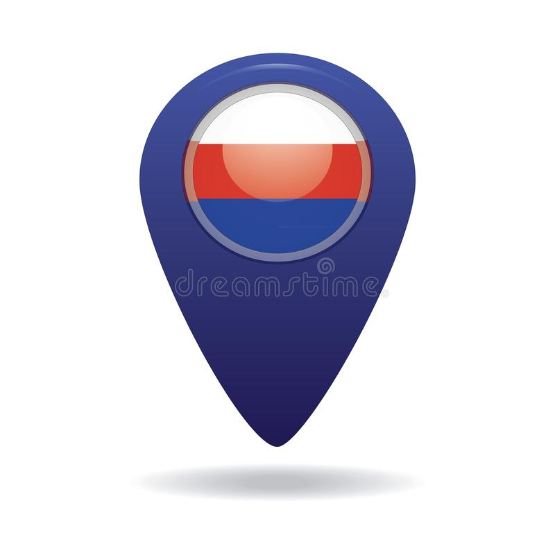Button with the image of the flag of the Russia royalty free stock photo