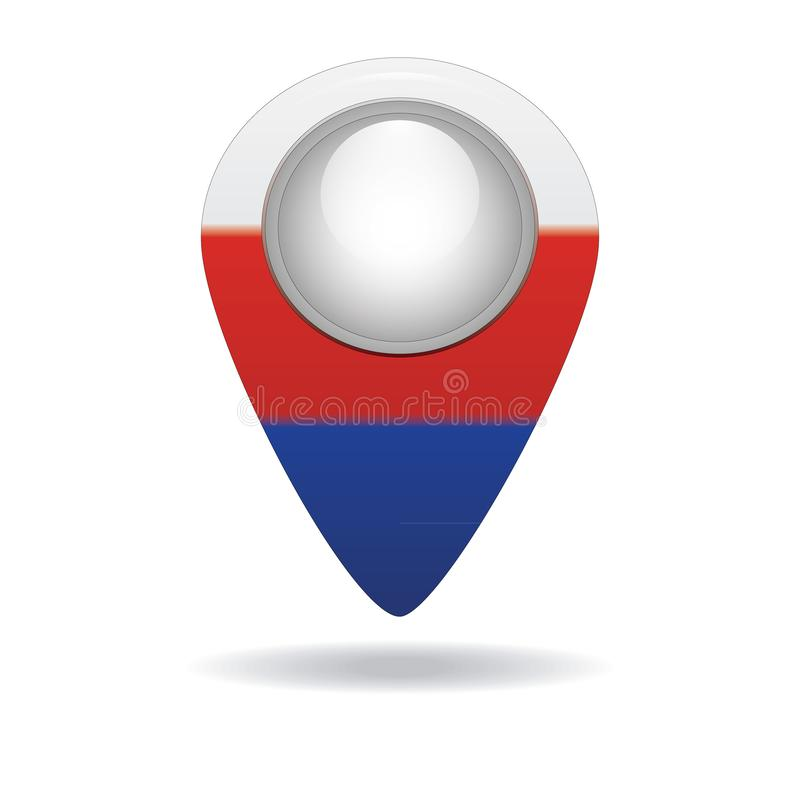 Button with the image of the flag of the Russia royalty free stock photos