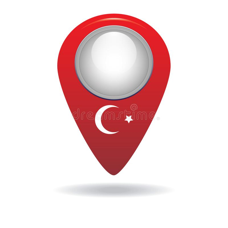 Button with the image of the flag of the Turkey stock photos