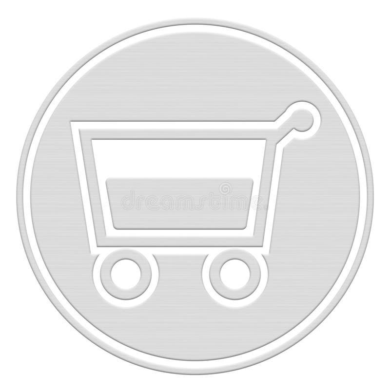 button koszykowy wózka na zakupy ilustracji