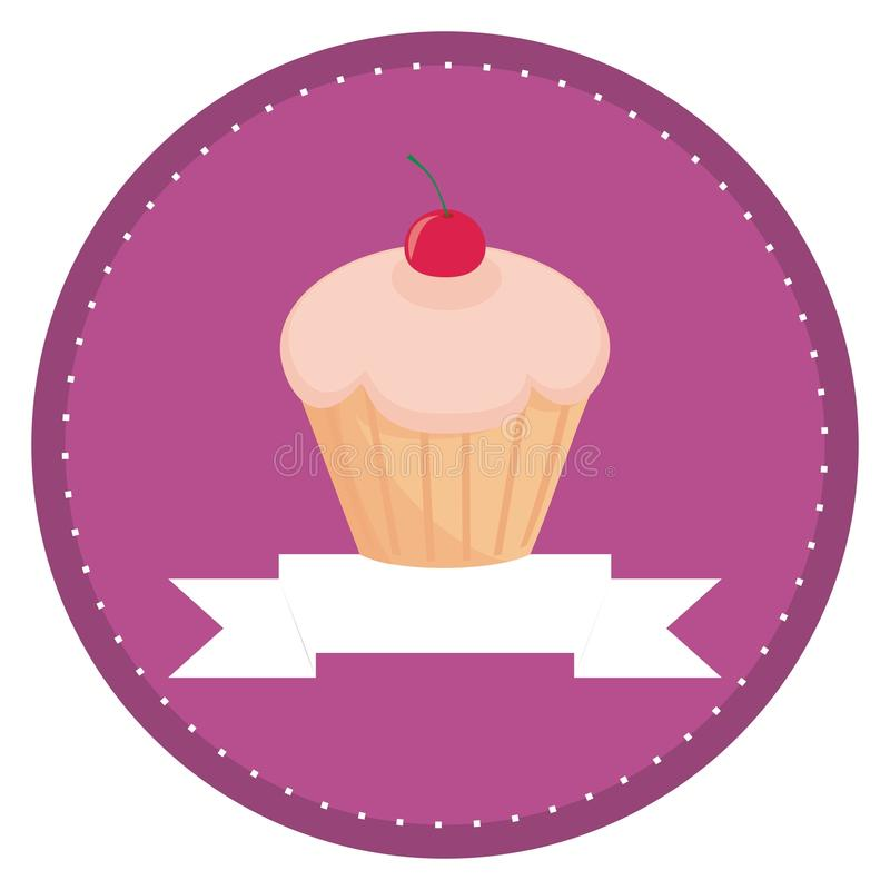 Download Button, Logo Or Invitation Card With Cherry Muffin Stock Vector - Illustration: 21928493