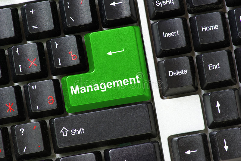 Button of management royalty free stock images