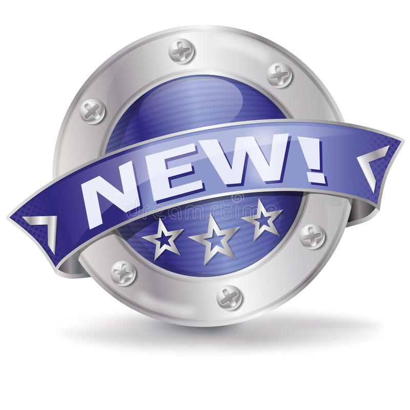 Button new. And innovative products royalty free illustration