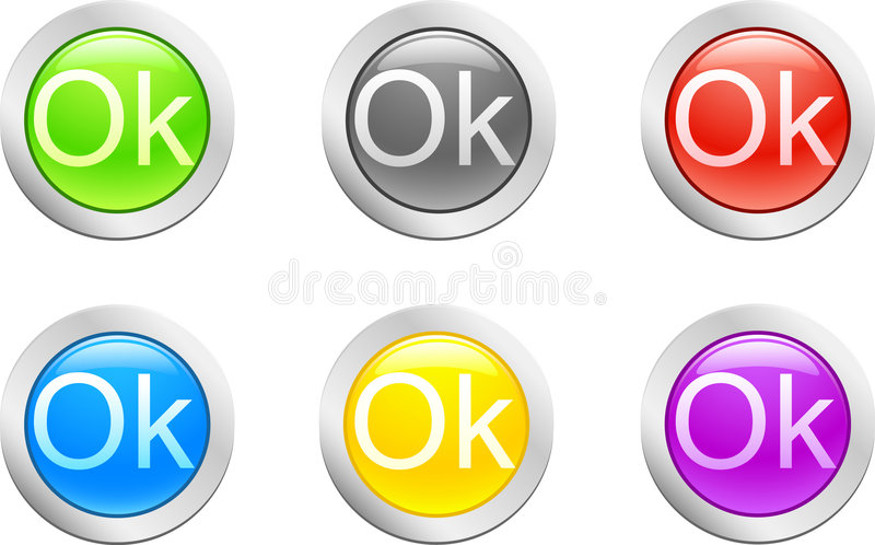 button ok vector иллюстрация штока