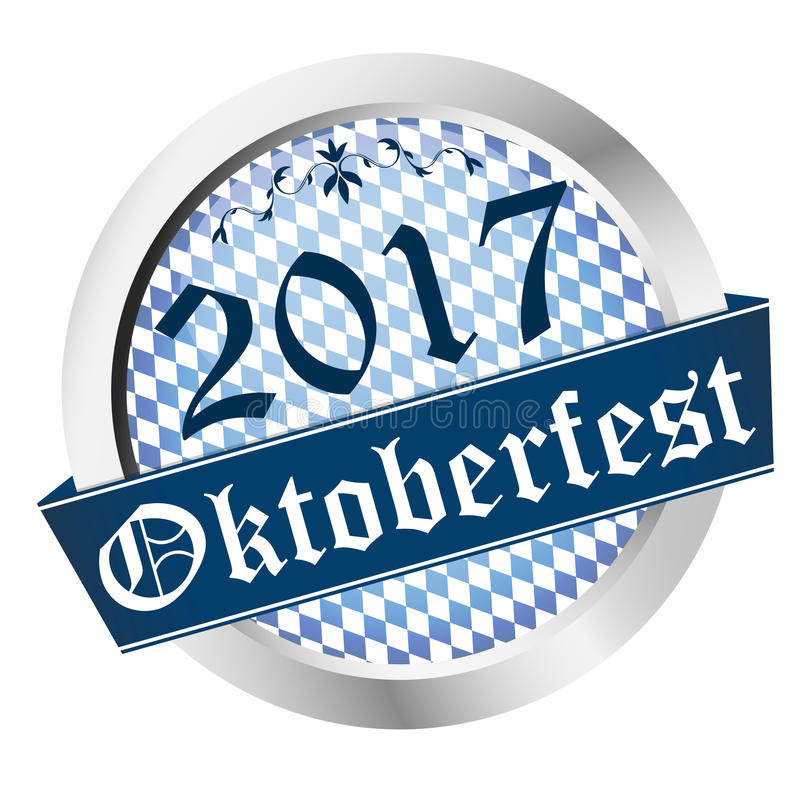 Button Oktoberfest 2017 stock illustration