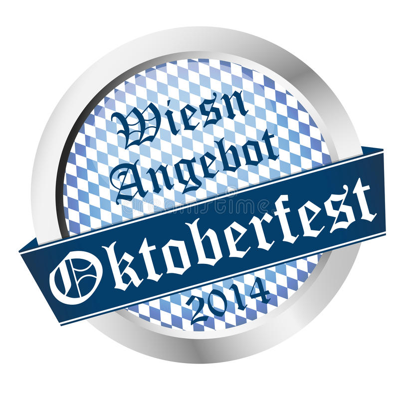 Button Oktoberfest 2014 - Wiesn Angebot vector illustration