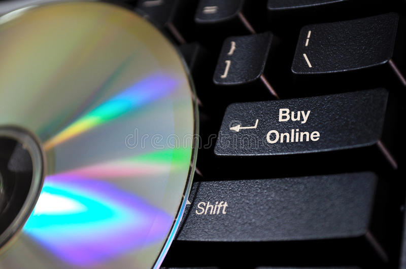 Button for online purchases royalty free stock image