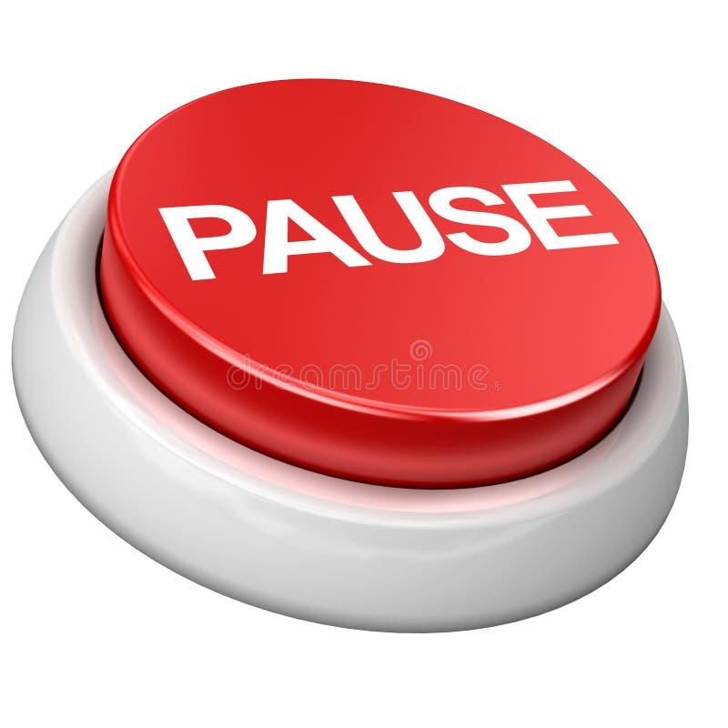 Button pause stock illustration