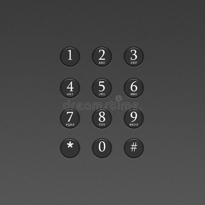 Download Button On The Phone Or Telephone Keypad Stock Illustration - Image: 21823764