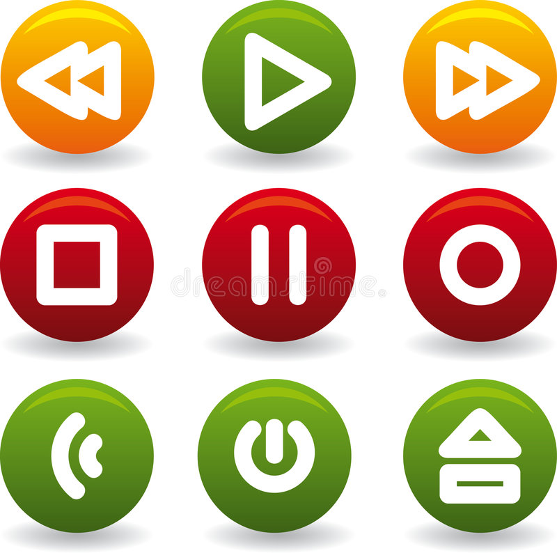 Button play royalty free illustration