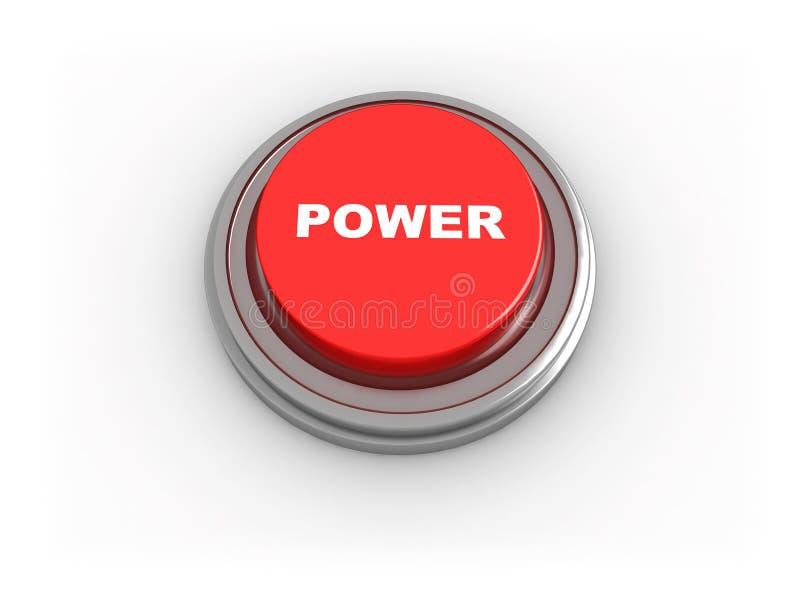 Button power stock illustration