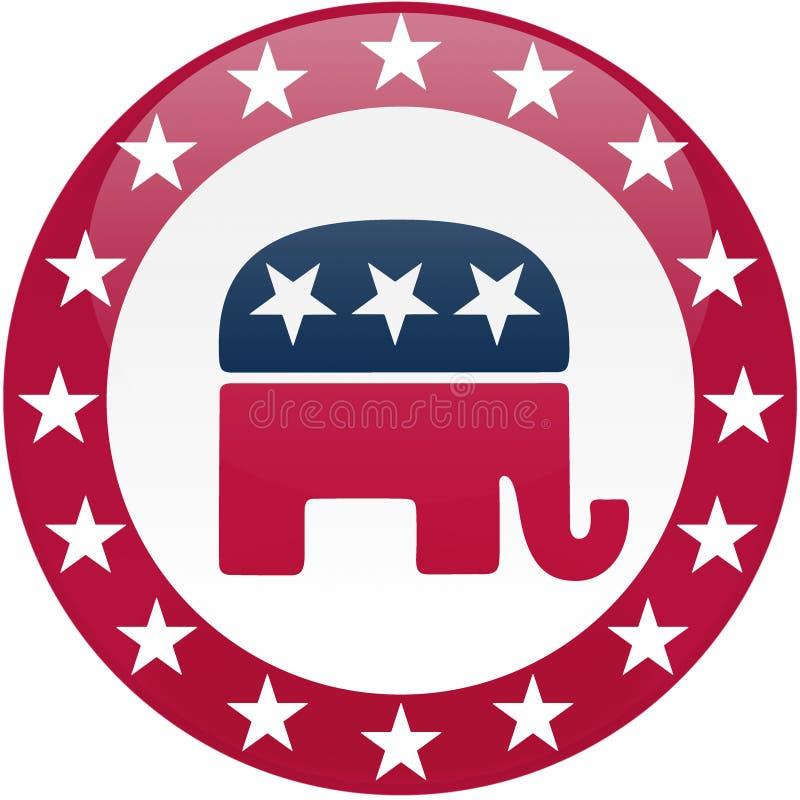 button röd republikansk white