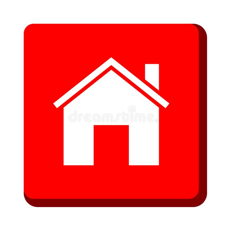 Home icon button royalty free illustration