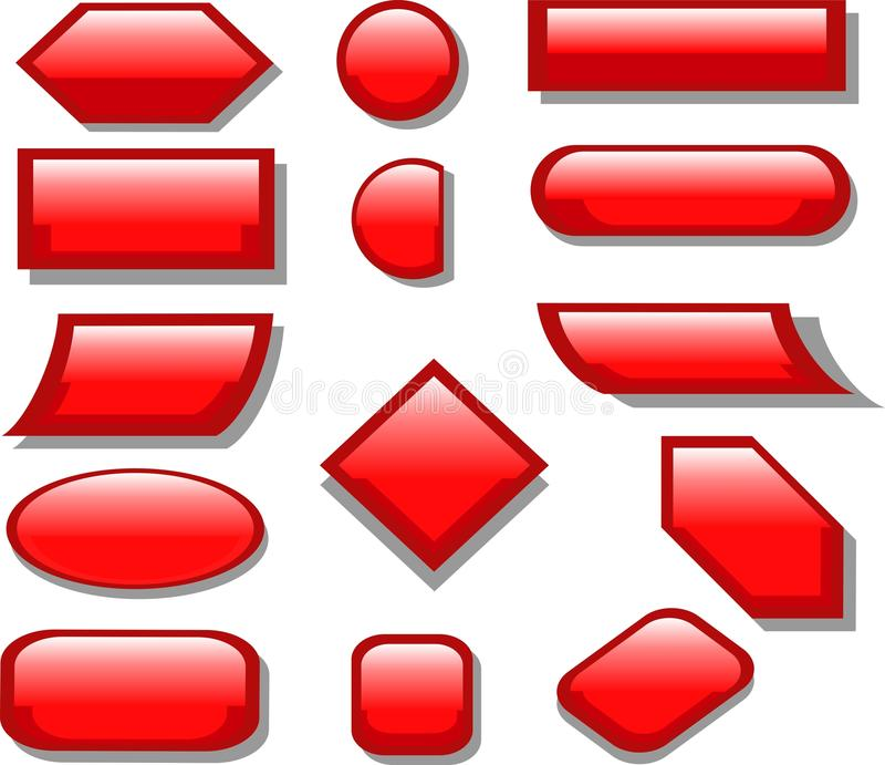 Button Red stock photo