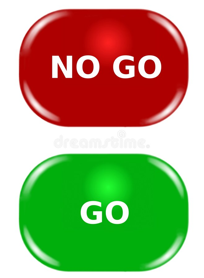 Button Red Green. Illustration internet computer concept of buttons vector illustration