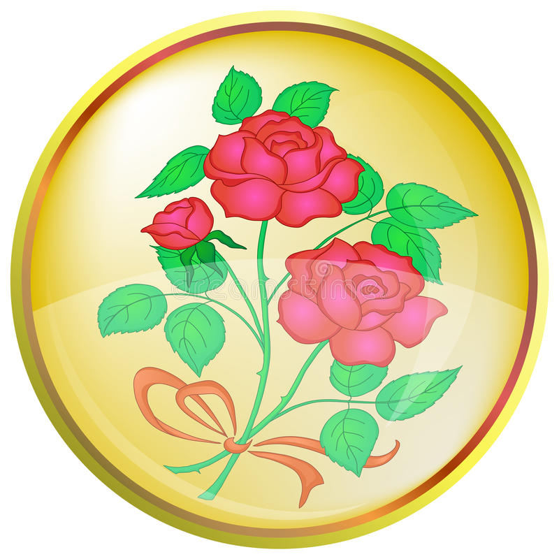 Button, red rose