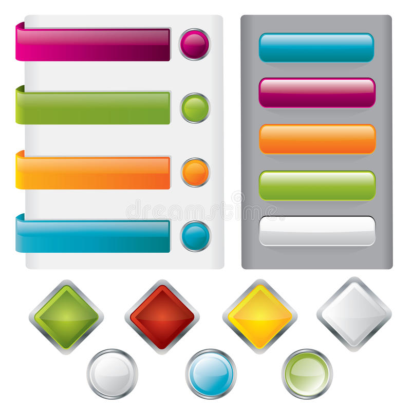 Download Button set stock vector. Image of rectangle, sale, gray - 17844599