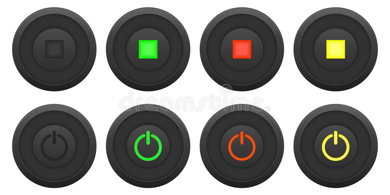 Download Button Set Stock Image - Image: 35284631