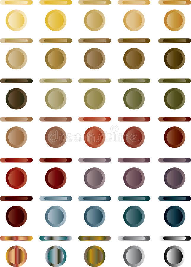 Free Button, Set Of Light Buttons Of Red, Blue, Grey.. Royalty Free Stock Photo - 8426915