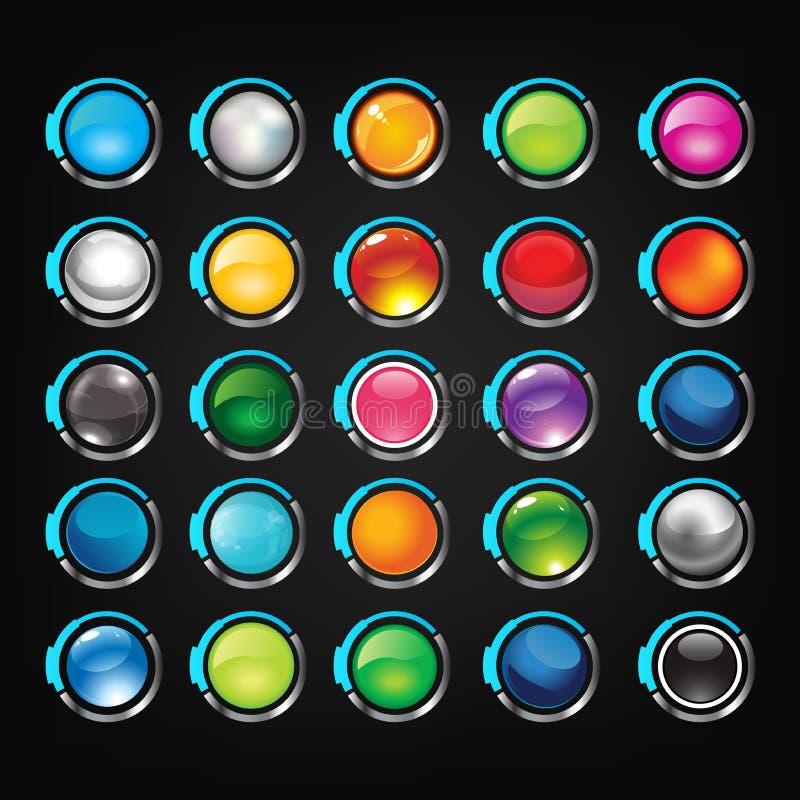 Button set royalty free stock photo