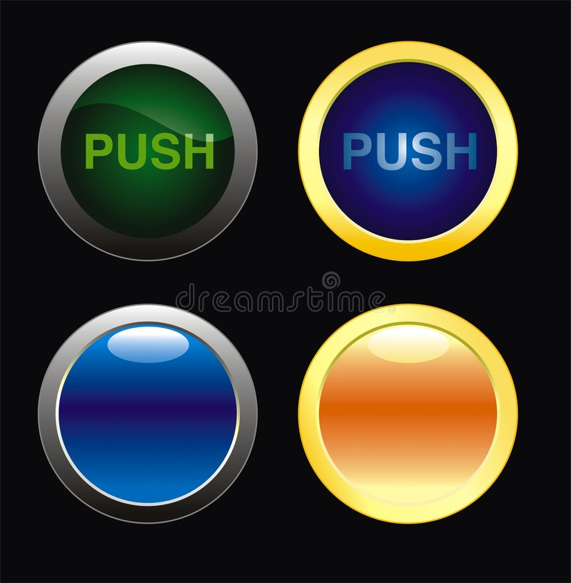 button sieci royalty ilustracja