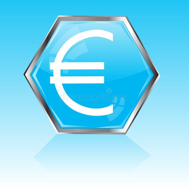 Button With Sign Euro Stock Photos