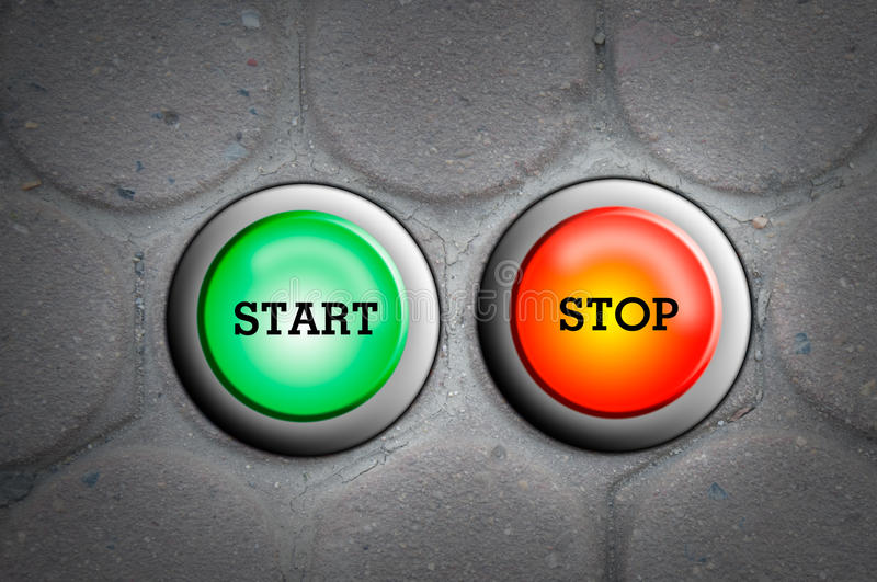 Download Button start and stop stock illustration. Image of computer - 24780676
