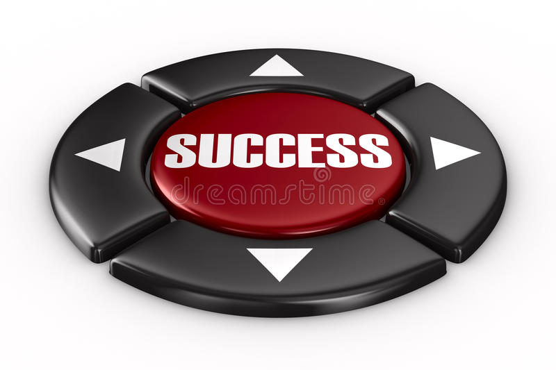 Button Success On White Background Royalty Free Stock Photos