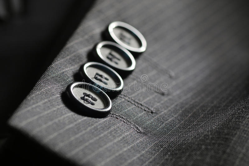 Button suit stripe royalty free stock images