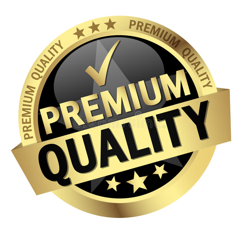 button with text Premium Quality stock illustration