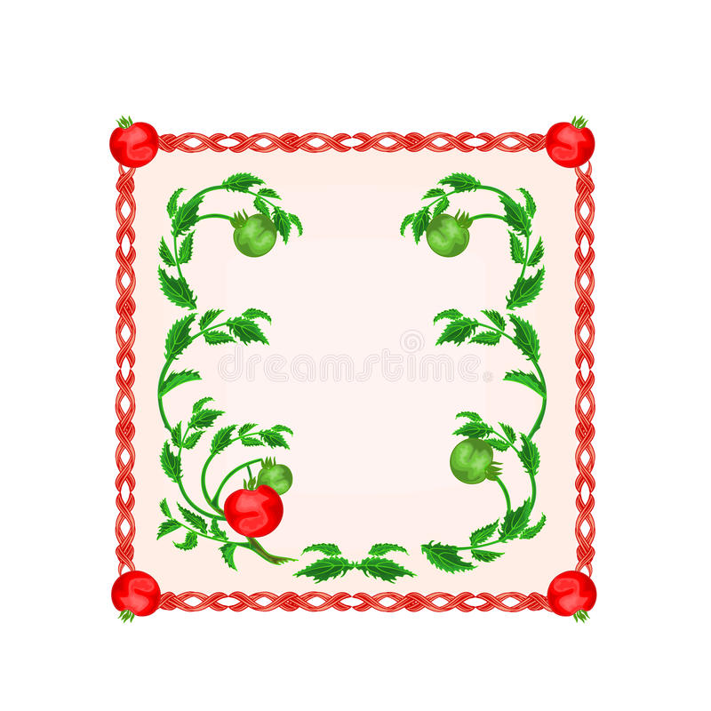 Download Button Tomatoes With Leaf Motive Vector Illustration Stock Vector - Image: 42541137