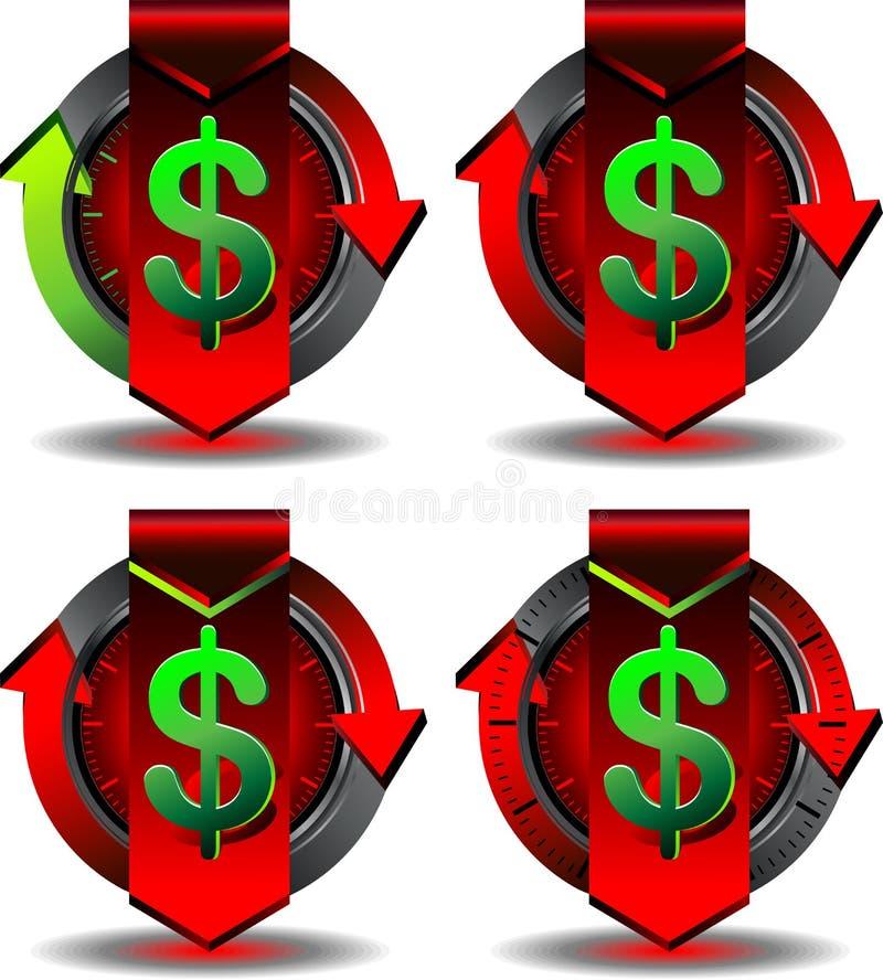 Button trading vector illustration