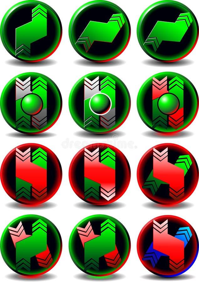 Button trading stock illustration